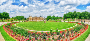 Luxembourg Palace and park in Paris, the Jardin du Luxembourg, Stock Images