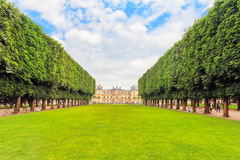 Luxembourg Palace and park in Paris, the Jardin du Luxembourg, o Royalty Free Stock Photography