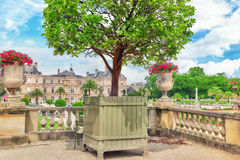 Luxembourg Palace and park in Paris Royalty Free Stock Photography