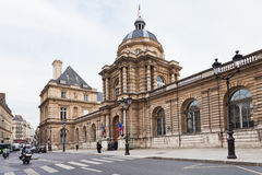 Luxembourg Palace from rue de vaugirard in Paris Stock Photos