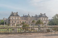 Luxembourg Palase in Paris, France.  royalty free stock photos