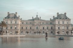 Luxembourg Palase in Paris stock image