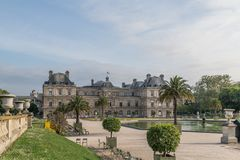 Luxembourg Palase in Paris, France.  stock photo