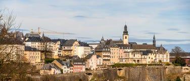 luxembourg panorama- sikt Arkivfoton