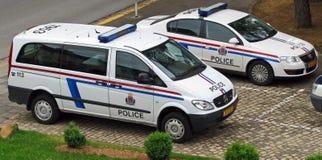 Luxembourg polismedel Arkivbild