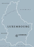 Luxembourg political map Stock Photo