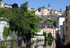 Luxembourg and River. Luxembourg old town in the heart of Europe Royalty Free Stock Photography