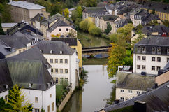 Luxembourg riverscape Royalty Free Stock Images