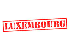LUXEMBOURG. Rubber Stamp over a white background Royalty Free Stock Photography
