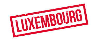 Luxembourg rubber stamp Stock Image