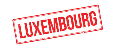 Luxembourg rubber stamp Stock Images