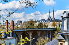 Luxembourg skyline Royalty Free Stock Photos