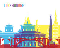 Luxembourg skyline pop. In editable vector file Royalty Free Stock Image