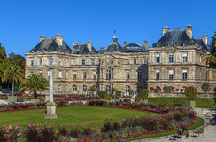 luxembourg slott paris Royaltyfria Foton