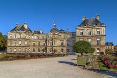 luxembourg slott paris Arkivbild