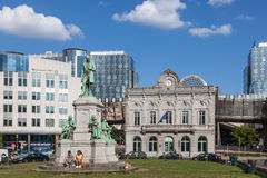 Luxembourg Square in Brussels Royalty Free Stock Images