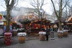 "Luxembourg stad, Luxembourg †""December, 2013 Julmarknad i den Luxembourg staden Royaltyfri Foto"