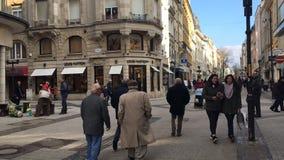 Luxembourg stad, storslagen rue för huvudsaklig fot- gata - tidschackningsperiod arkivfilmer