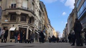 Luxembourg stad, storslagen rue för strög lager videofilmer