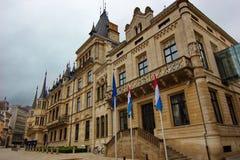 Luxembourg - storslagen hertiglig slott Royaltyfri Foto