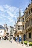 Luxembourg storslagen hertiglig slott Royaltyfria Foton