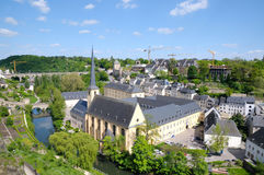 Luxembourg in summer. Center of Luxembourg in summer Royalty Free Stock Images