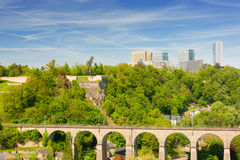 Luxembourg in summer day stock image