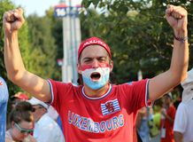 Luxembourg tennis fan during  US Open 2015 at Billie Jean King National Tennis Center Stock Image