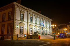 Luxembourg Town Hall. On Place Guillaume II at night on April 6 Royalty Free Stock Images