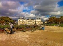 Luxembourg trädgårdar fotografering för bildbyråer