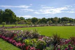 Luxembourg trädgårdar, Paris, Frankrike Royaltyfri Bild