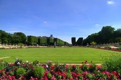Luxembourg trädgårdar, Paris, Frankrike royaltyfria foton