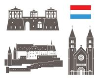 Luxembourg. Vector illustration (EPS 10 Royalty Free Stock Image