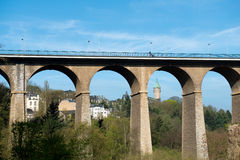 Luxembourg Viaduct Stock Images