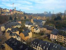 Luxembourg view of Grund Royalty Free Stock Photography