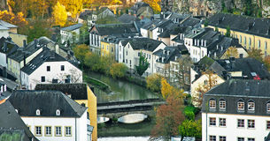 Luxembourg. View on the old town of Luxembourg, Europe Stock Photo