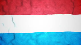 Luxembourger Flag Seamless Video Loop stock footage