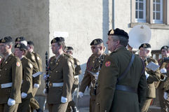 Luxembourgish soldiers orchestra Stock Photography