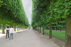 Luxemburg arbeiten Pfad im Garten Stockfotografie