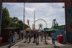 LUXEMBURG, LUXEMBURG - 30. AUGUST 2015 - Schueberfouer - Entra lizenzfreie stockfotos