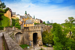 Luxemburg beautiful city view in summer Stock Photo
