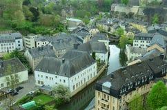 Luxemburg. Beautifull city landscpe of Luxemburg on the background of blue sky Stock Photography