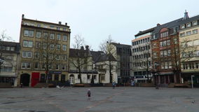 Luxemburg City, Luxembourg – winter 2016. Place Guillaume II, east view. stock video