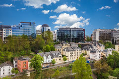 Luxemburg cityscape view from top in summer Stock Photography