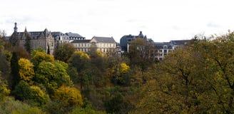 Luxemburg de stad in Stock Afbeelding