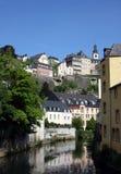 Luxemburg en Rivier Stock Foto's