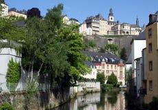 Luxemburg en Rivier Royalty-vrije Stock Fotografie