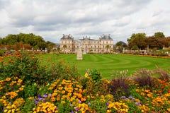 Luxemburg Garden, Paris. Luxemburg Garden during a cloudy day Royalty Free Stock Image