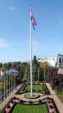 Luxemburg kennzeichnen und arbeiten im Garten Lizenzfreie Stockbilder