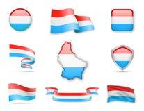 Luxemburg kennzeichnet Sammlung Lizenzfreie Abbildung